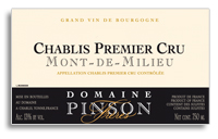 2010 Domaine Pinson Freres Chablis Mont De Milieu