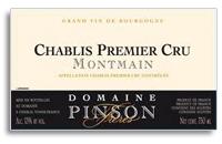 2009 Domaine Pinson Freres Chablis Montmain