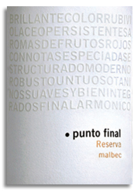 2008 Bodega Renacer Punto Final Malbec Reserva Mendoza