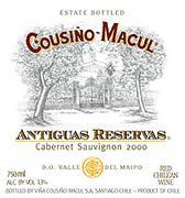 Vv Vina Cousino Macul Cabernet Sauvignon Antiguas Reservas Maipo Valley