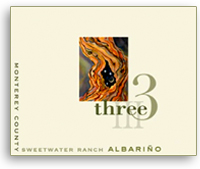 2009 Three Wine Company Albarino Sweetwater Ranch Monterey County