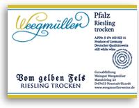 2011 Weingut Weegmuller Riesling Vom Gelben Fels