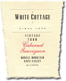 2003 White Cottage Cabernet Sauvignon Howell Mountain