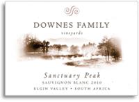 2012 Downes Family Vineyards Sauvignon Blanc Sanctuary Peak Elgin Valley