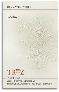 2008 Deumayen Wines Malbec Trez Reserva Mendoza