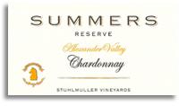 2008 Summers Chardonnay Reserve Stuhlmuller Vineyard Alexander Valley