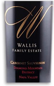 2010 Wallis Family Estate Cabernet Sauvignon Estate Diamond Mountain