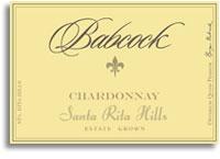 2011 Babcock Vineyards Chardonnay Estate Bottled Sta Rita Hills