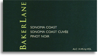 2010 Baker Lane Vineyards Pinot Noir Sonoma Coast Cuvee Sonoma Coast