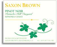 2008 Saxon Brown Pinot Noir Parmelee-Hill Vineyard Sonoma Coast