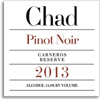 2011 Chad Pinot Noir Carneros Reserve
