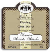 2010 Domaine Barmes-Buecher Riesling Clos Sand