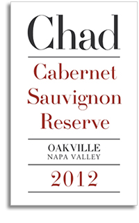 2012 Chad Cabernet Sauvignon Oakville Reserve Napa Valley