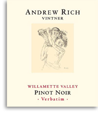 2012 Andrew Rich Wines Pinot Noir Verbatim Willamette Valley