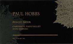 2010 Paul Hobbs Winery Pinot Noir Hyde Vineyard Carneros