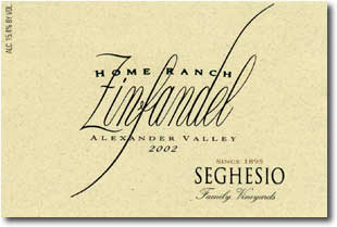 2012 Seghesio Family Vineyards Zinfandel Home Ranch Alexander Valley