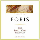 2009 Foris Vineyards Winery Pinot Gris Rogue Valley