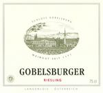 2010 Schloss Gobelsburg Riesling Gobelsburger