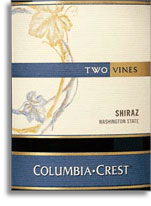 Vv Columbia Crest Winery Shiraz Two Vines Columbia Valley
