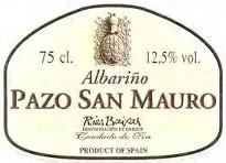 2009 Pazo San Mauro Albarino Rias Baixas