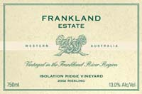 2010 Frankland Estate Riesling Isolation Ridge Frankland River