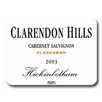 2002 Clarendon Hills Cabernet Sauvignon Hickinbotham Clarendon