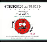 2007 Green & Red Vineyard Zinfandel Chiles Canyon Vineyard Napa Valley