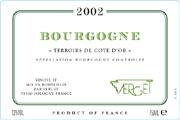 2009 Verget Bourgogne Blanc Terroirs de la Cote d'Or
