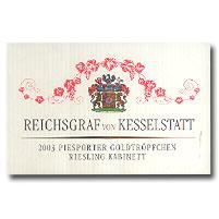 2010 Reichsgraf Von Kesselstatt Piesporter Goldtropfchen Riesling Kabinett