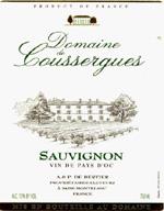 2010 Domaine de Coussergues Sauvignon Blanc Vin de Pays d'Oc
