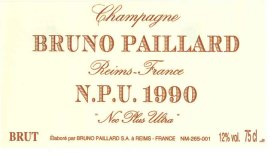 1990 Bruno Paillard Brut Cuvee Npu Nec Plus Ultra