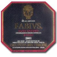 2009 Ciacci Piccolomini d'Aragona Fabius Syrah Sant' Antimo