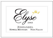 2002 Elyse Winery Zinfandel Howell Mountain Napa Valley