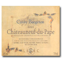 2011 Patrick Lesec Chateauneuf-du-Pape Cuvee Bargeton