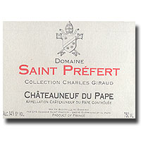 2007 Domaine Saint Prefert Chateauneuf-du-Pape Collection Charles Giraud