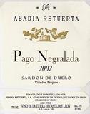 2010 Abadia Retuerta Pago Negralada Tempranillo Vino De La Tierra De Castilla Y Leon