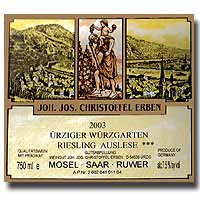 2009 Joh. Jos. Christoffel Erben Urziger Wurzgarten Riesling Auslese ***