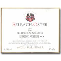 2009 Selbach Oster Zeltinger Sonnenuhr Riesling Auslese