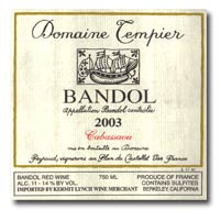 2002 Domaine Tempier Bandol Cabassaou