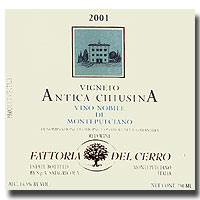 2007 Fattoria Del Cerro Vino Nobile Di Montepulciano Antica Chiusina