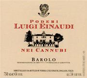 2000 Luigi Einaudi Barolo Cannubi