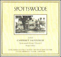 2005 Spottswoode Vineyard Cabernet Sauvignon Estate Napa Valley