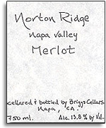 2007 Norton Ridge Merlot