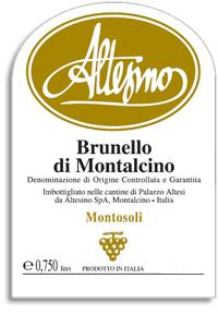 2001 Altesino Brunello Di Montalcino Montosoli