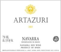 2005 Bodegas Artazu Garnacha Navarra