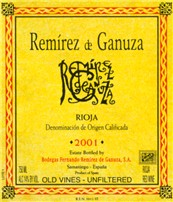 2002 Bodegas Fernando Remirez De Ganuza Rioja